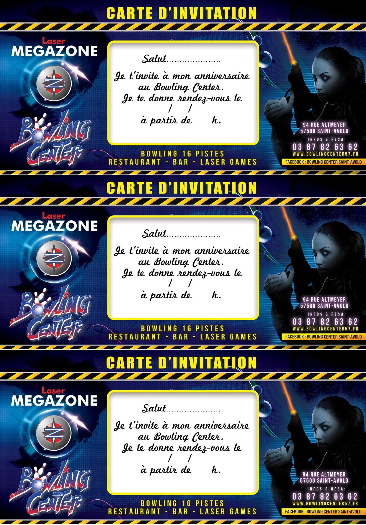 Bowling Center 57 - Saint-Avold - Bowling · Restaurant · Bar | CARTON INVITATION